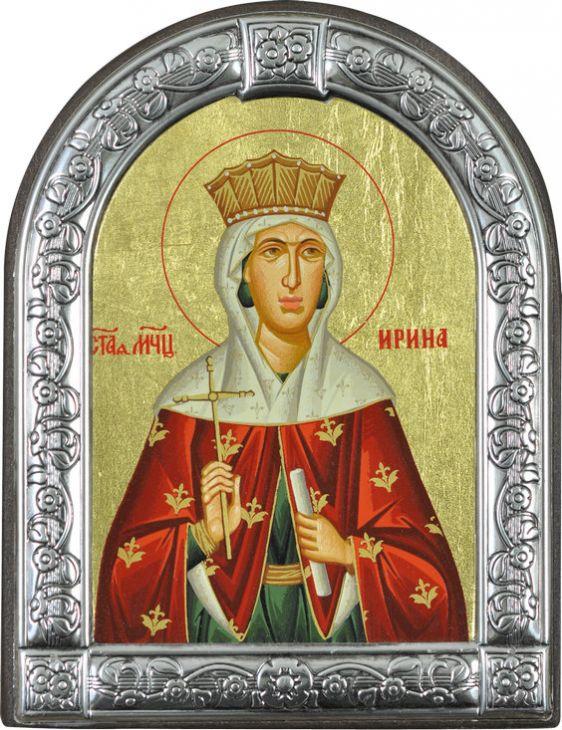 Икона Святая великомученица Ирина (Греция, 13х10 см.)