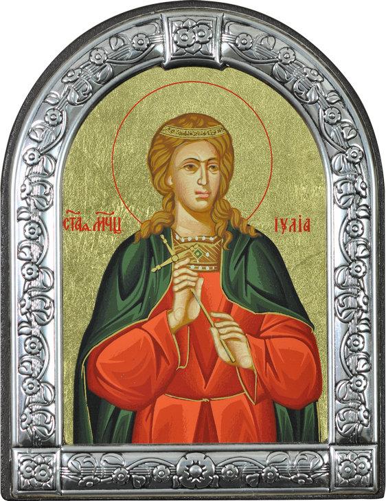 Икона Святая мученица Иулия (Греция, 13х10 см.)