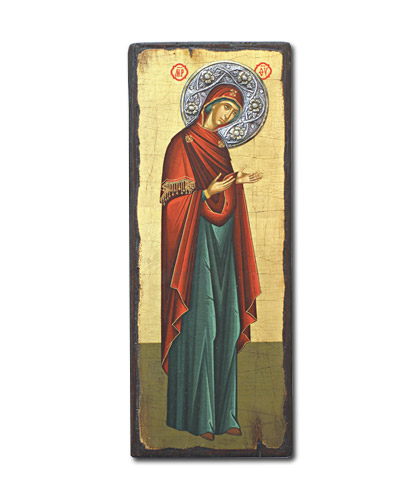 Икона Богородица Деисусная (Греция, 35x13 см.)