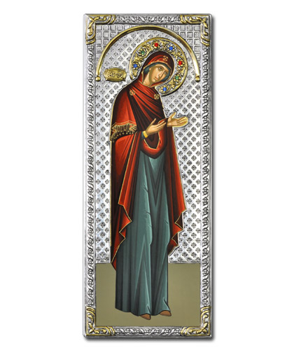 Икона Богородица Деисусная (Греция, 39x16 см.)