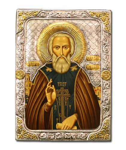Икона Преподобный Сергий Радонежский (Греция, 19х15 см.)