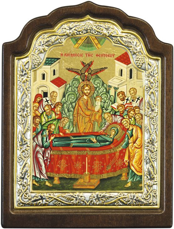 Икона Успение Пресвятой Богородицы (Греция, 33х25 см.)