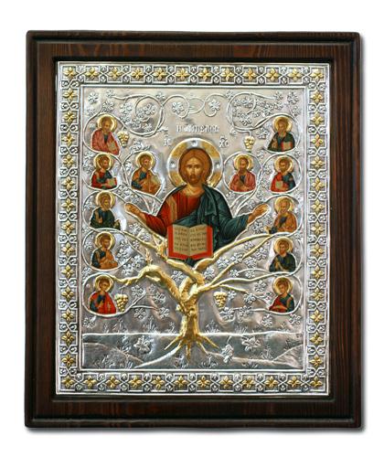 Икона Спас Истинная Лоза (Греция, 20х17 см.)
