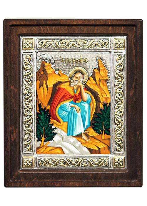 Икона Илья Пророк (Греция, 16х14 см.)
