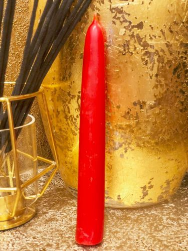 Красная восковая свеча 15 х 1.9 см