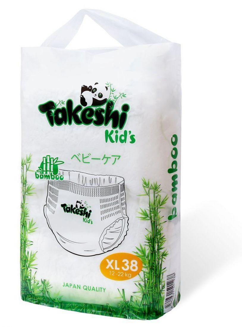 Takeshi Kids 12-22 кг XL 38 шт,Трусики Универсальные