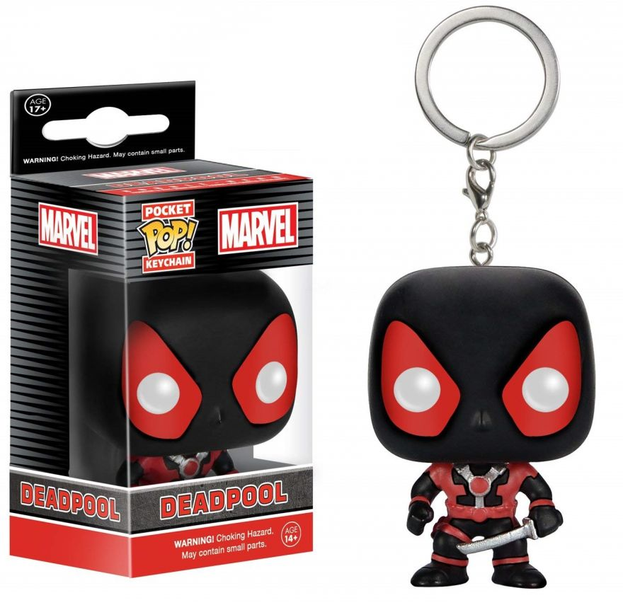 Брелок Funko Pocket POP! Keychain: Marvel: Black Deadpool 7512-PDQ