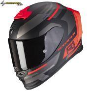 Шлем Scorpion EXO-R1 Air Orbis, Матовый черный с красным