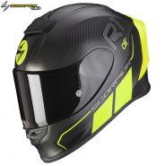Шлем Scorpion EXO-R1 Air Carbon Air Corpus II, Матовый черный с желтым