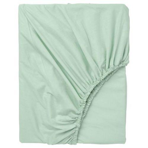 DVALA ДВАЛА, Простыня натяжная, светло-зеленый, 80x200 см - 004.597.34