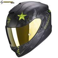 Шлем Scorpion EXO-1400 Air Asio, Черный матовый с желтым