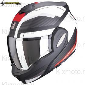 Шлем Scorpion EXO-Tech Trap, Черный матовый с красным