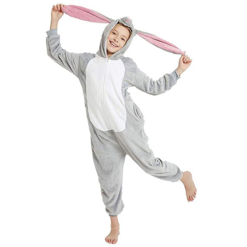 Детская Пижама Кигуруми Заяц Серый