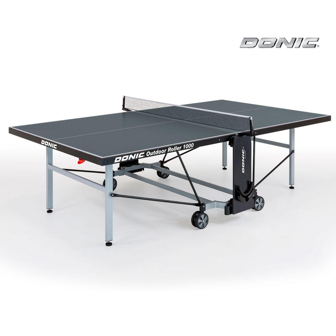 Всепогодный Теннисный стол Donic Outdoor Roller 1000 серый