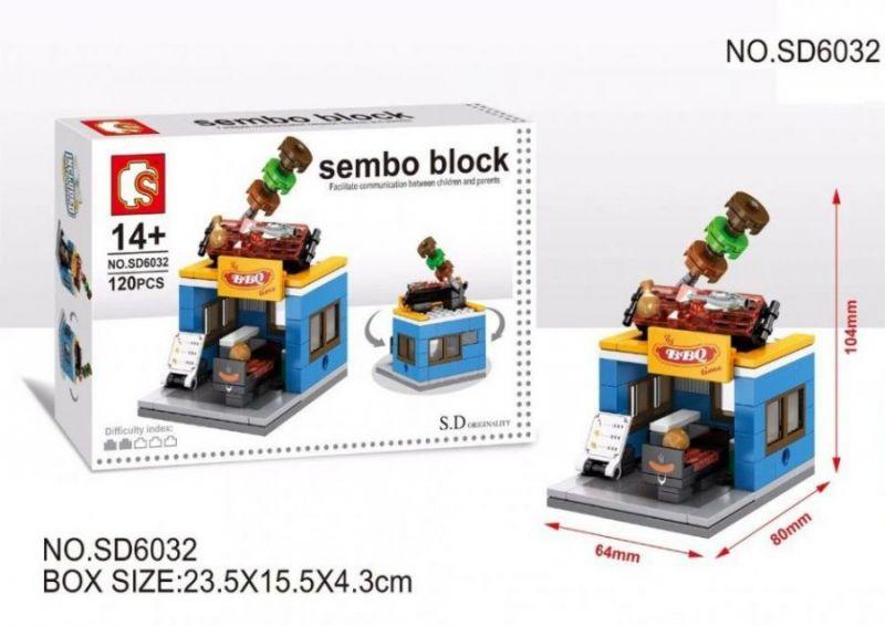 Конструктор Sembo Block Mini World, BBQ