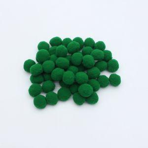Помпоны, размер 25 мм, цвет 40 темно-зеленый (1уп = 50шт)