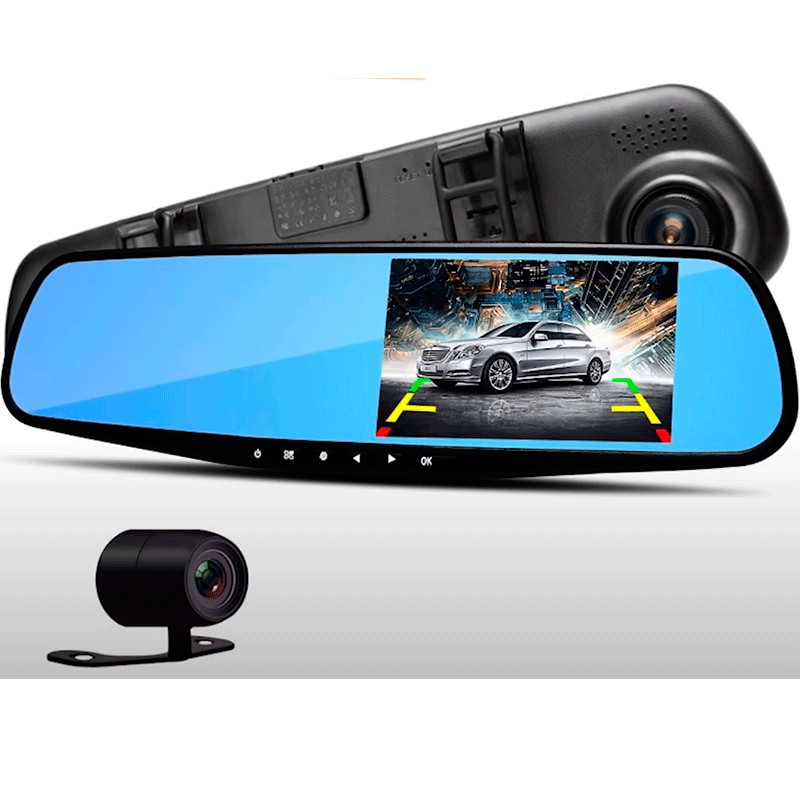 Видеорегистратор зеркало TS-CAR13 full hd с камерой заднего вида