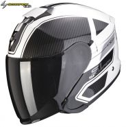 Шлем Scorpion EXO-S1 Cross-Ville, Бело-черно-серебряный
