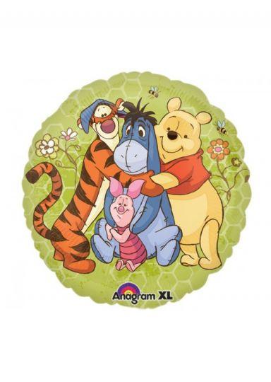 Винни Пух и друзья круглый шар фольгированный с гелием