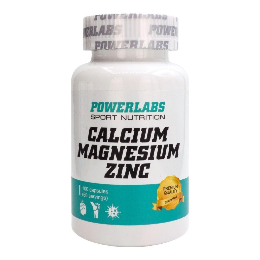 PowerLabs Calcium & Magnesium & Zink 100 caps