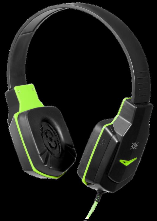 Гарнитура Defender Warhead G-320, черный/зеленый, игровая