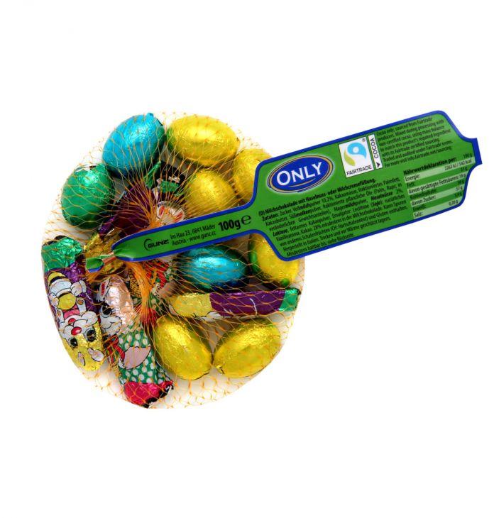 Молочный шоколад only eggs & bunnies 100 гр