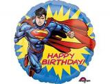 Супермен круглый шар фольгированный с гелием