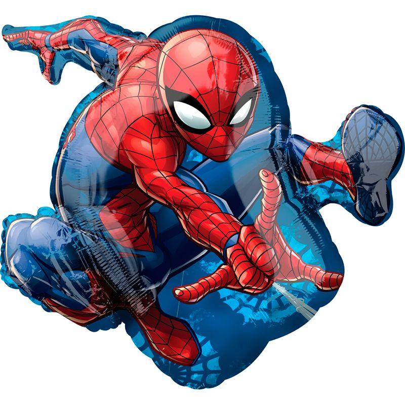 Человек паук фигурный шар фольгированный с гелием