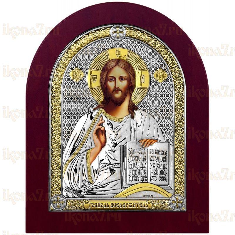 Икона Спас Вседержитель с деревянной рамкой (Иисус Христос)