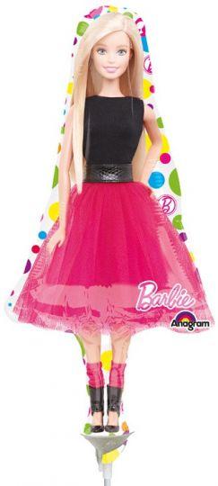Барби фигурный шар фольгированный с гелием