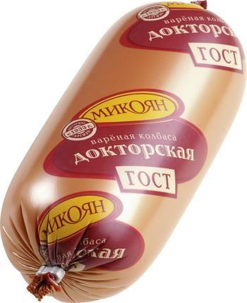 Колбаса Докторская МИКОЯН, 500г