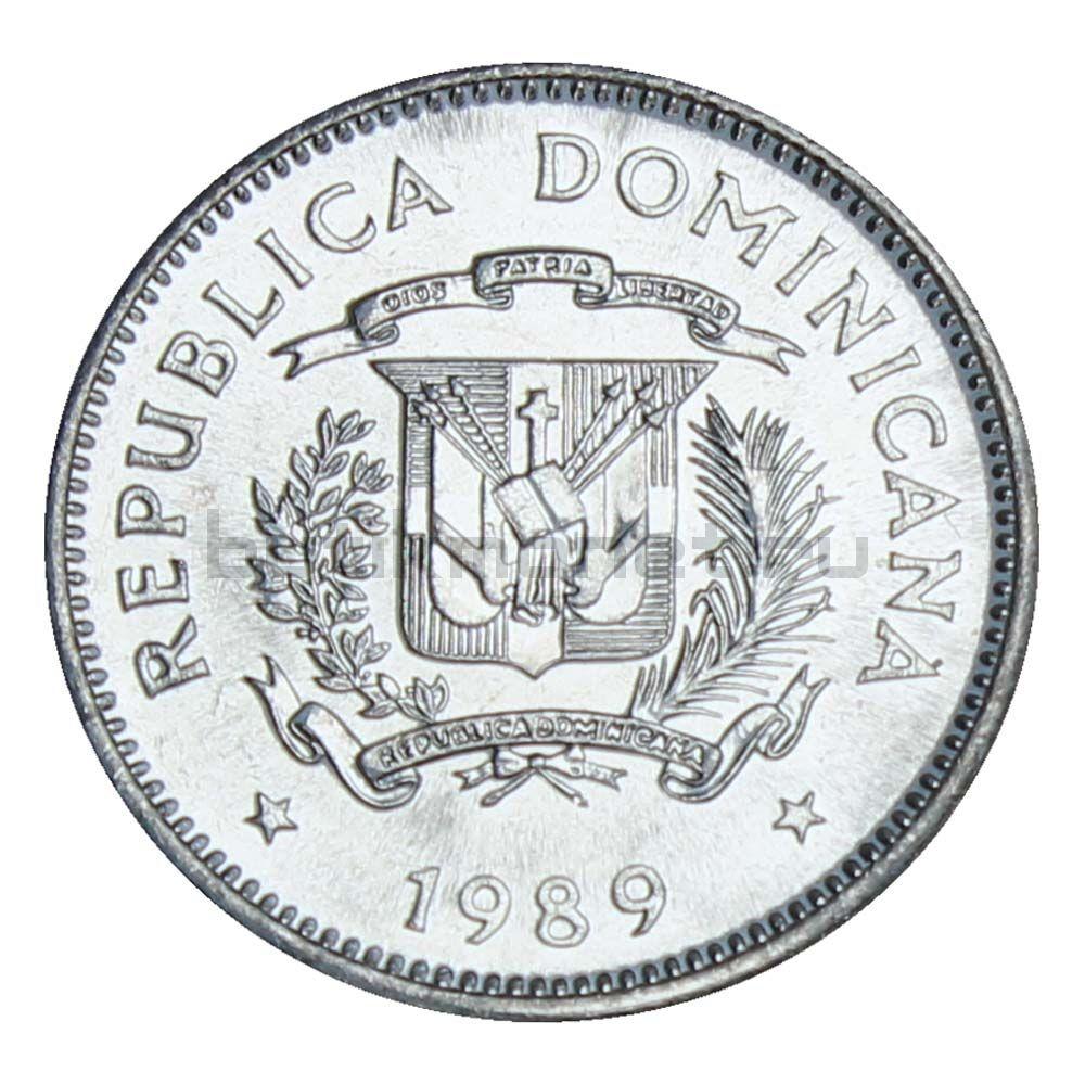 5 сентаво 1989 Доминикана