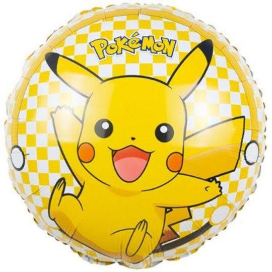 Покемон круглый шар фольгированный с гелием