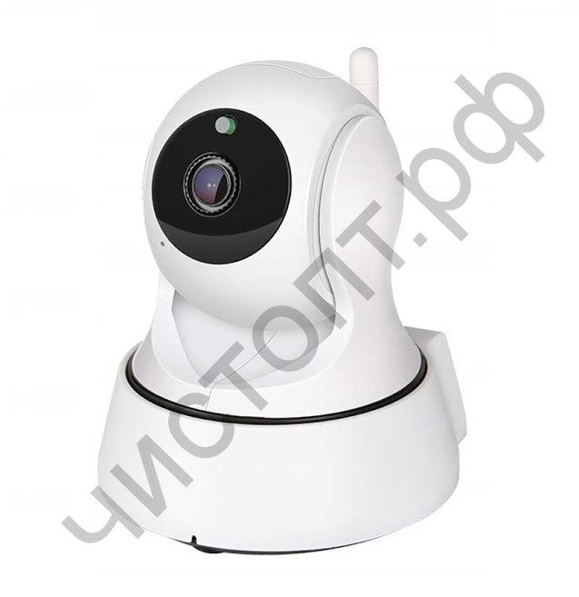 Видеокамера наблюд. IP OT-VNI21(С329) Белая поключ. Wi-Fi контроль со смартфона двухсторон. голос. связь  (1920x1080,TF до 128Гб)