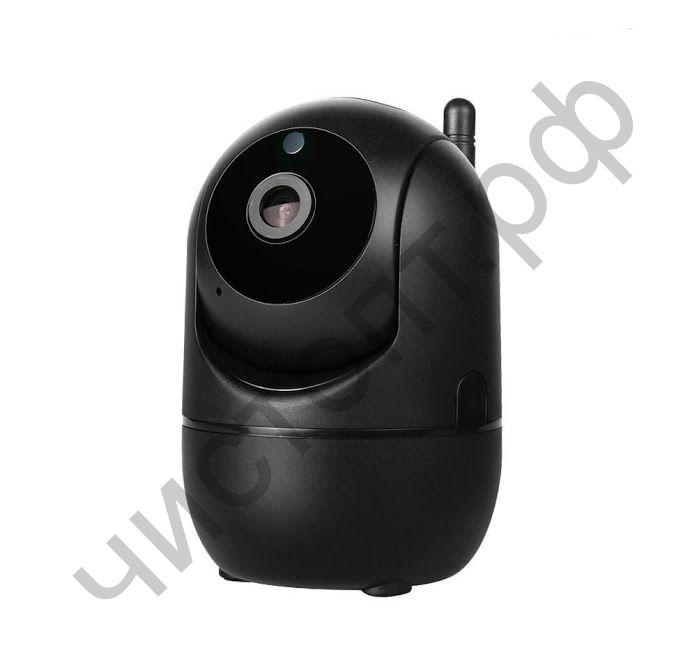 Видеокамера наблюд. IP OT-VNI20(С291) Черная поключ. Wi-Fi контроль со смартфона двухсторон. голос. связь  (1920x1080,TF до 128Гб)