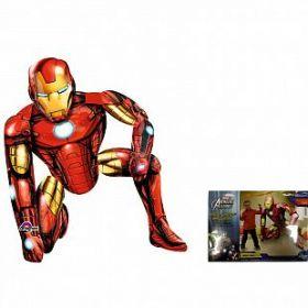 Ходячая фигура Железный человек в упаковке (46''/115 см), 1 шт.