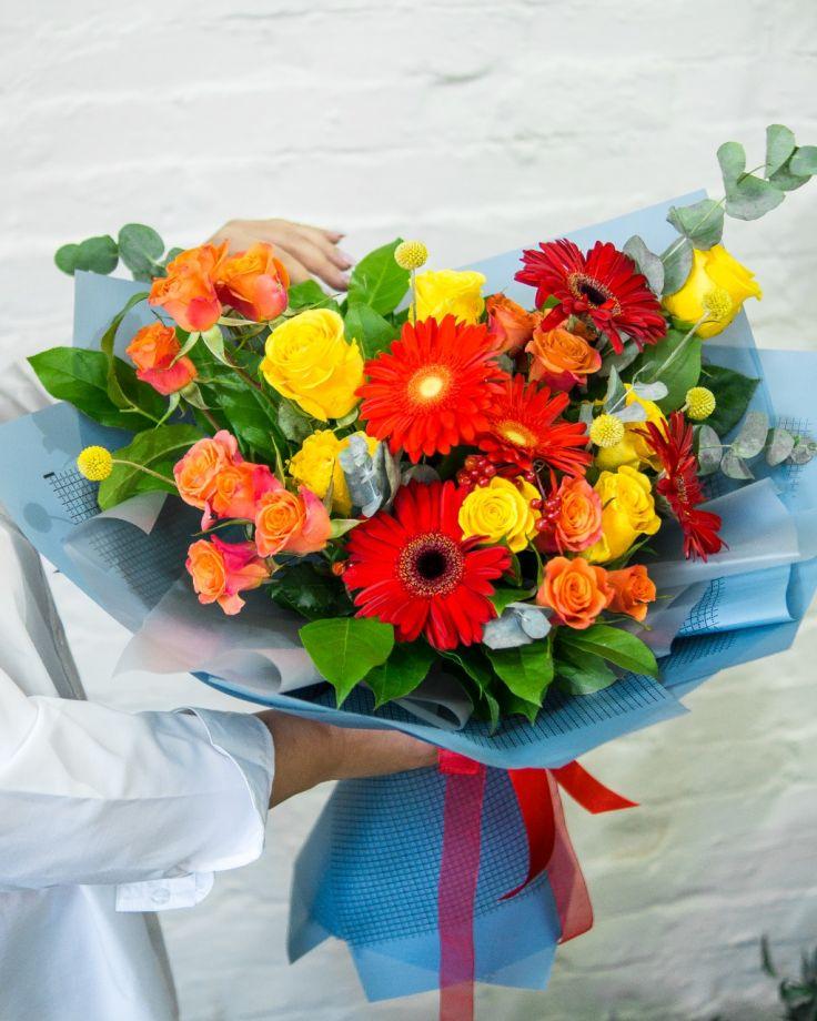 "Букет цветов ""Музыка сердца"""
