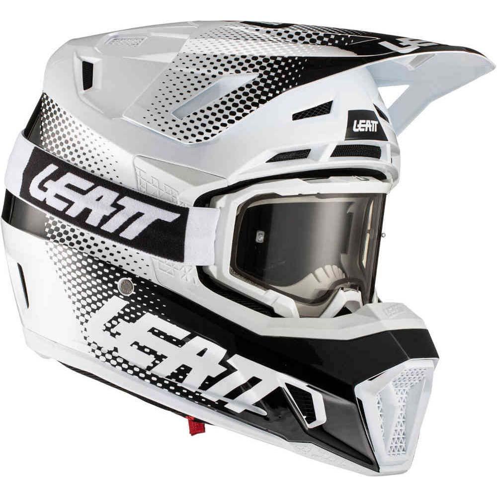 Leatt Kit Moto 7.5 V21.1 White комплект шлем внедорожный и очки