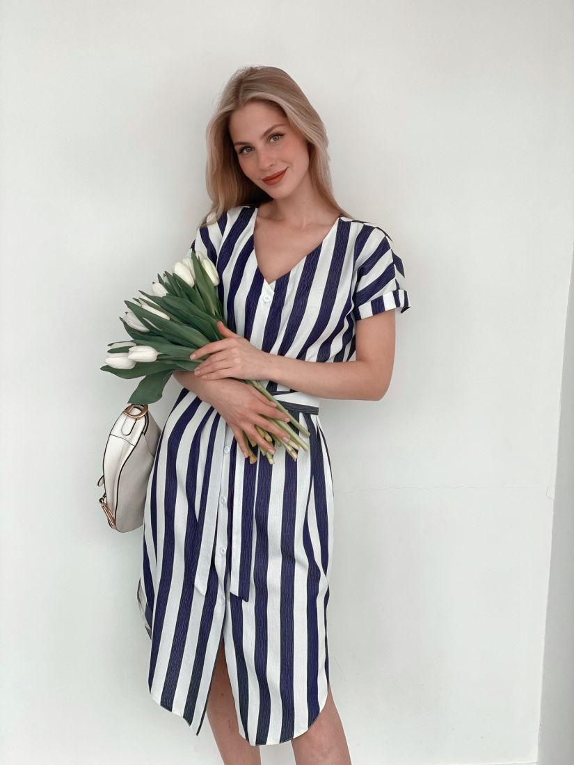 s3772 Платье-рубашка в морском стиле