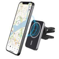 Автомобильный держатель Deppa Mage Safe Qi для iPhone, магнитный в решетку
