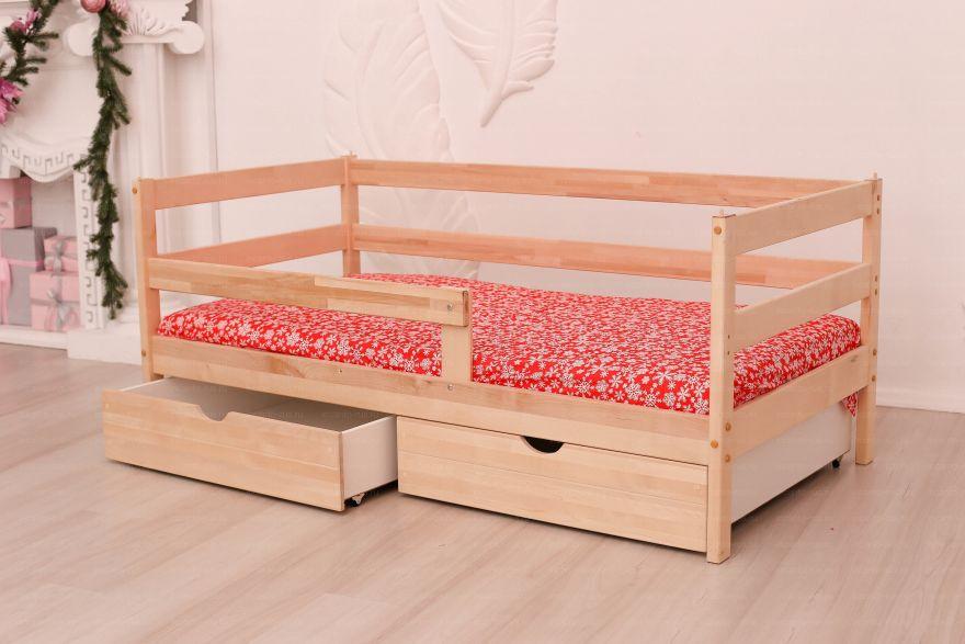 Софа «Dream Home» , цвет натуральный с ящиками Детская кроватка