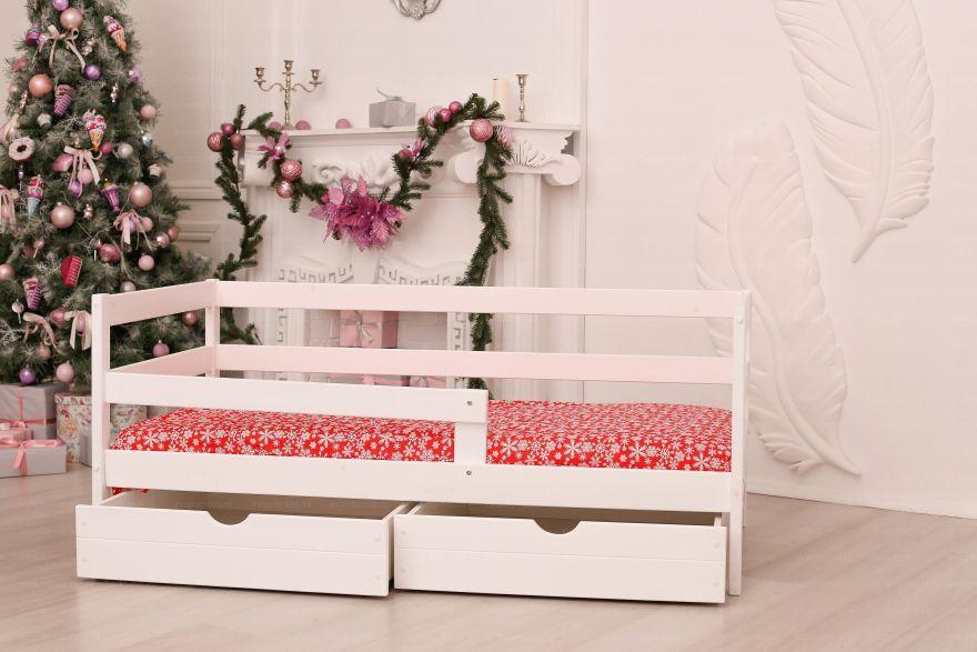 Софа «Dream Home» , цвет белый с ящиками Детская кроватка