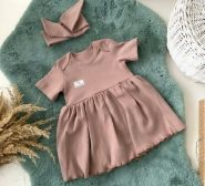 Боди-платье, тауп грей