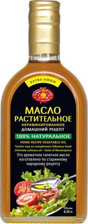 Масло растительное  домашний рецепт нерафинированное, 350мл, Golden Kings