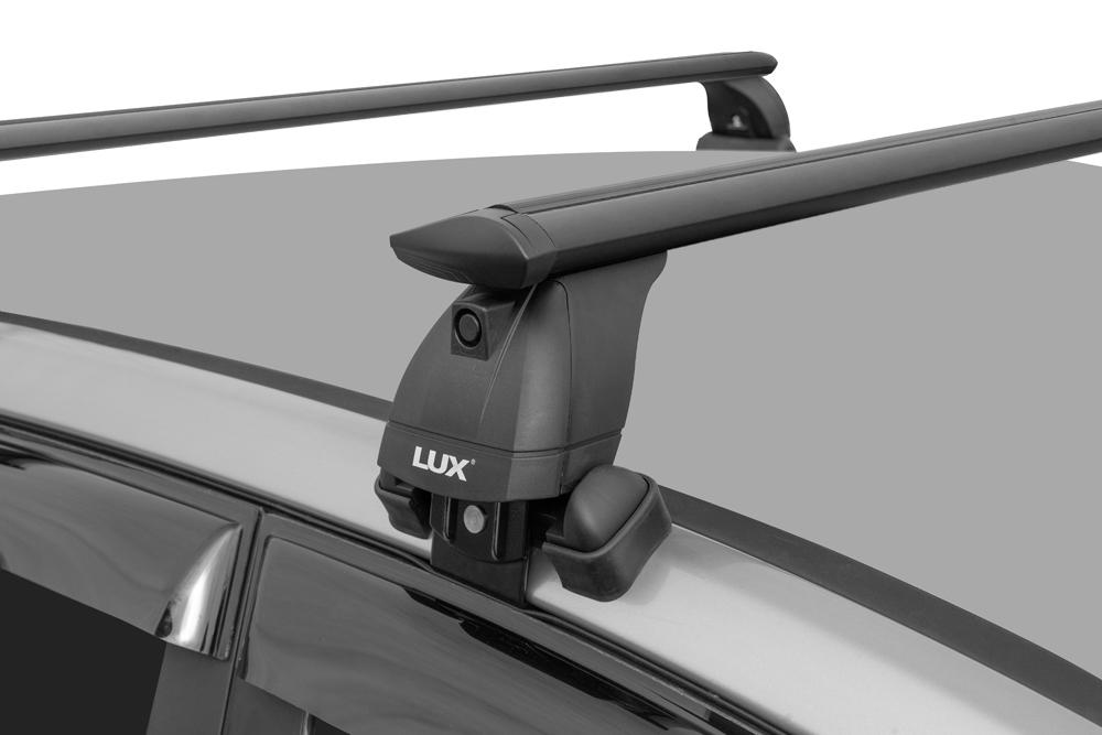 Багажник на крышу Hyundai Creta (2016-...), без рейлингов, Lux, черные крыловидные дуги