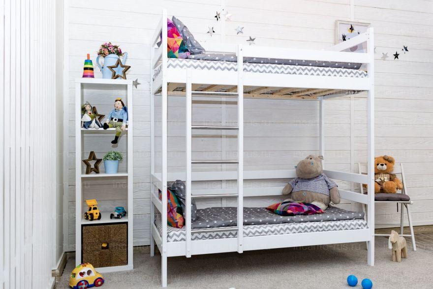 Двухъярусная кровать Altezza цвет белый с ящиками Детская кроватка