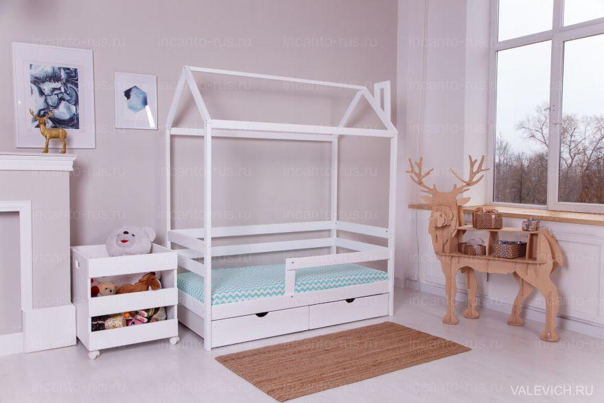 Кровать «Dream Home» с ящиками, цвет белый Детская кроватка