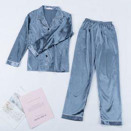 пижама армани шелк серая, рубашка +штаны, модель 719, размер 42,44