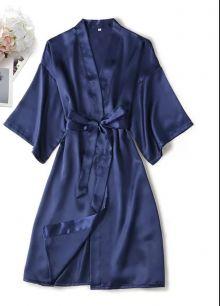халатик армани шелк, синий, размер 46,48,50  модель 722