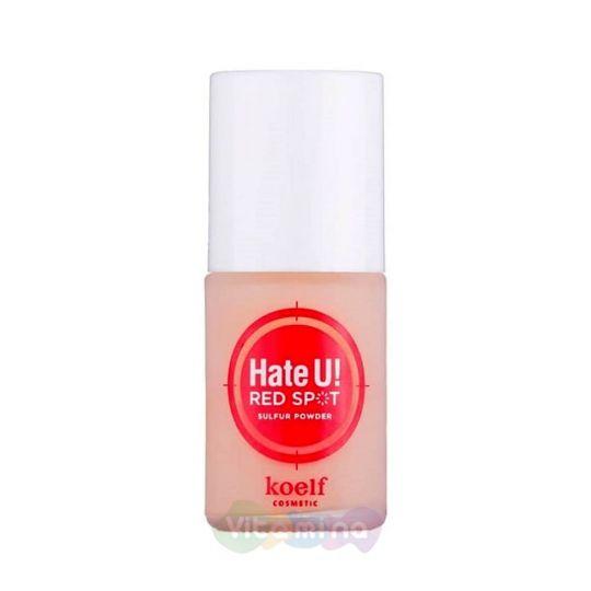 Koelf Лечащее и маскирующее средство от прыщей с серой Hate U! Red Spot Sulfur Powder, 15 гр